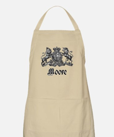 Moore Vintage Crest Family Name BBQ Apron