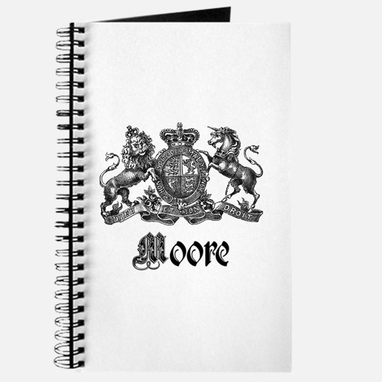 Moore Vintage Crest Family Name Journal