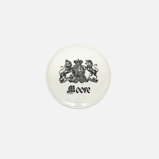 Moore Vintage Crest Family Name Mini Button