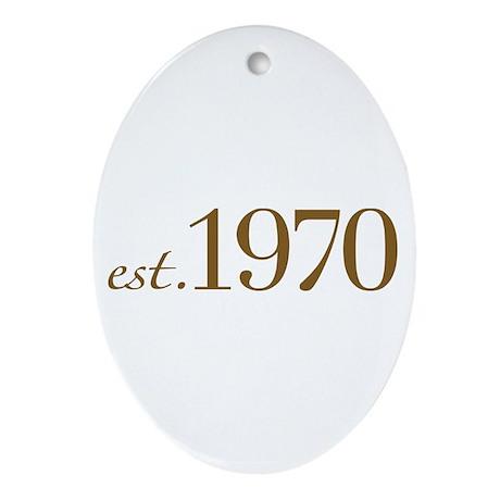 Est. 1970 (Birthday) Oval Ornament