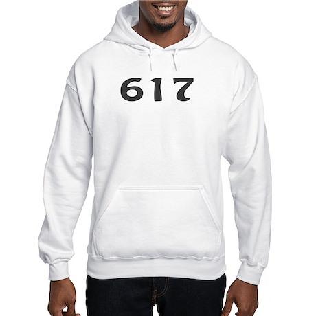 617 Area Code Hooded Sweatshirt