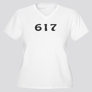 617 Area Code Women's Plus Size V-Neck T-Shirt