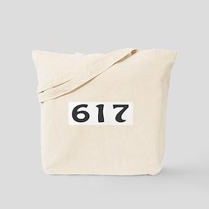 617 Area Code Tote Bag