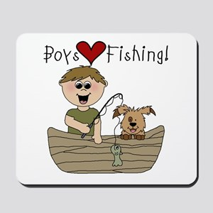 Boys Love Fishing Mousepad