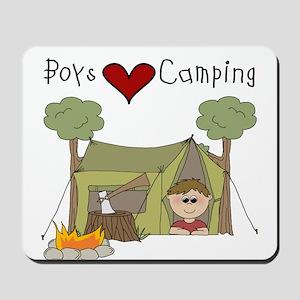 Boys Love Camping Mousepad