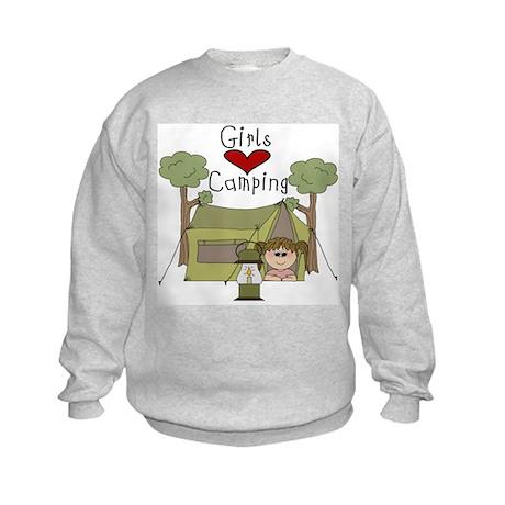 Girls Love Camping Kids Sweatshirt