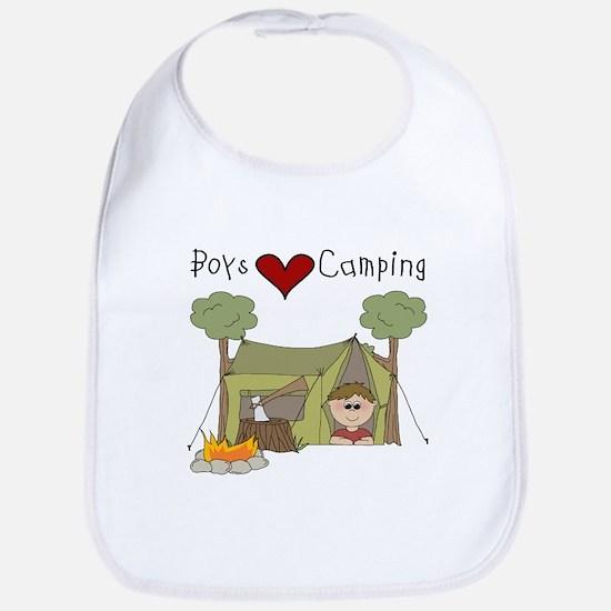 Boys Love Camping Bib