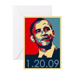 Obama Inauguration Date 1-20-09 Greeting Card