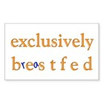 Exclusively BESTfed - Rectangle Sticker
