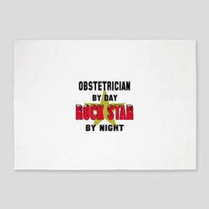 Obstetrician By Day, Rock Star By n 5'x7'Area Rug