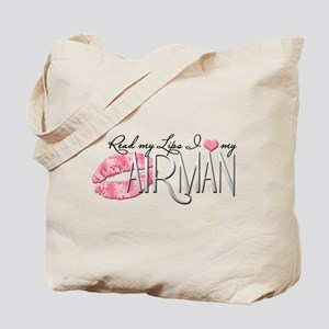 Read My Lips - Airman Tote Bag