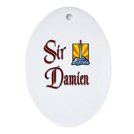 Sir Damien Oval Ornament