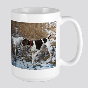 Pointer Pair at Work Large Mug