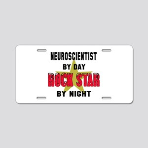 Neuroscientist By Day, Rock Aluminum License Plate