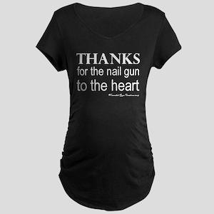 Nail Gun Heart Maternity Dark T-Shirt