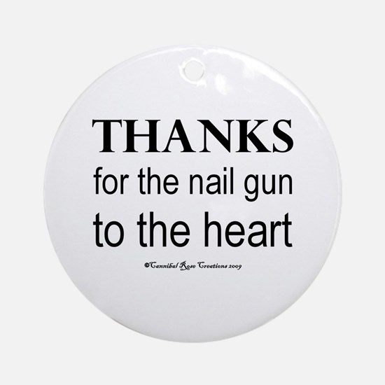 Nail Gun Heart Ornament (Round)