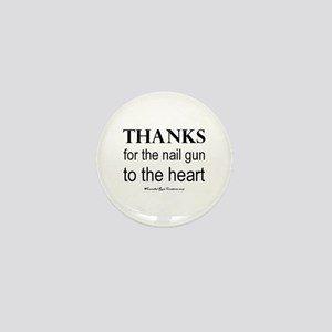 Nail Gun Heart Mini Button