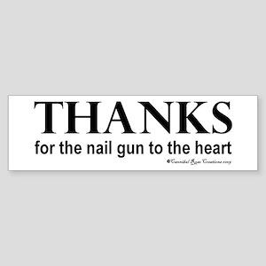 Nail Gun Heart Bumper Sticker