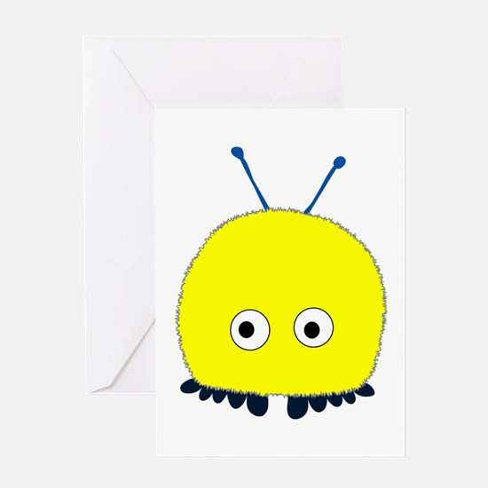 Yellow Wuppie Greeting Card