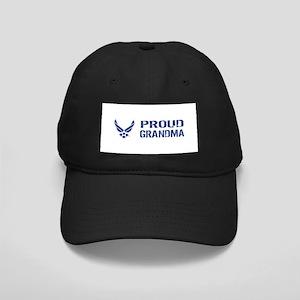USAF: Proud Grandma Black Cap with Patch