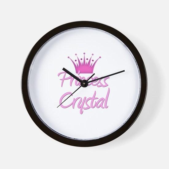 Princess Crystal Wall Clock