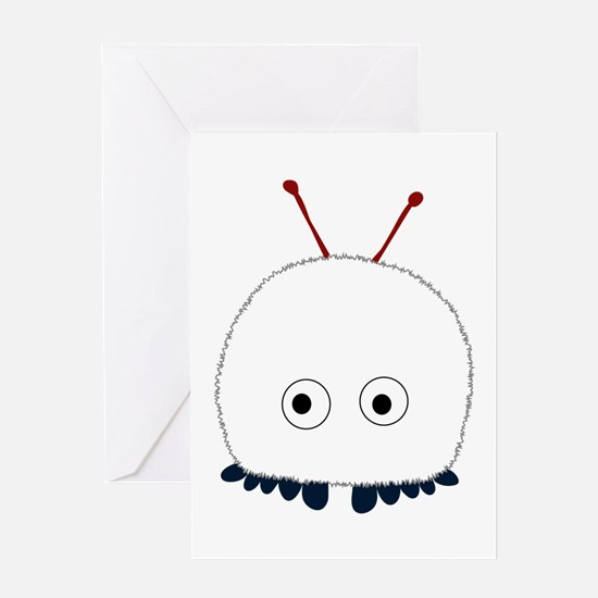 White Wuppie Greeting Card