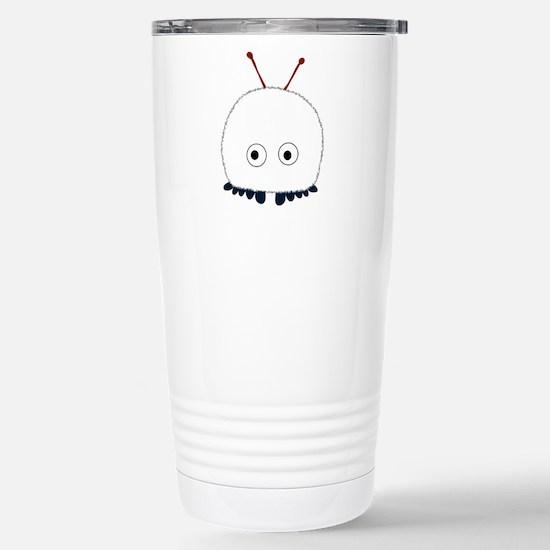 White Wuppie Stainless Steel Travel Mug