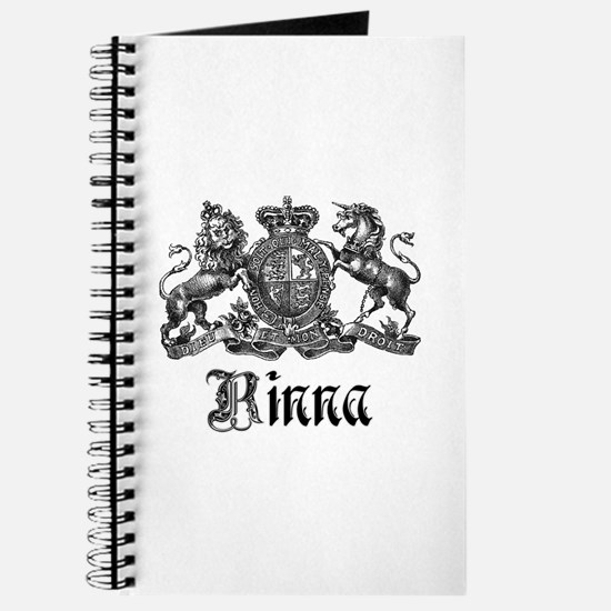 Rinna Vintage Crest Family Name Journal