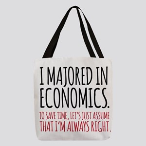 Majored In Economics Polyester Tote Bag