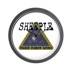 Sheeple NWO eye Wall Clock
