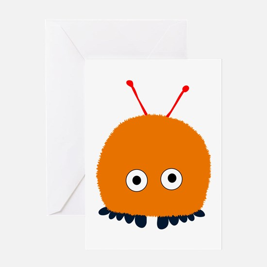 Orange Wuppie Greeting Card
