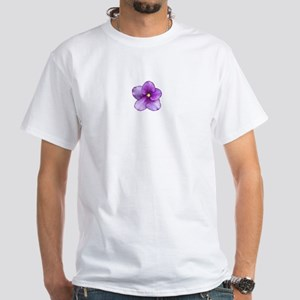 Beautiful Purple AV White T-Shirt