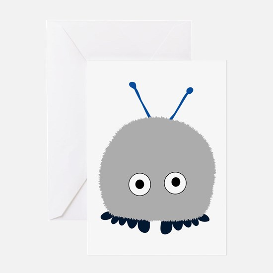 Grey Wuppie Greeting Card