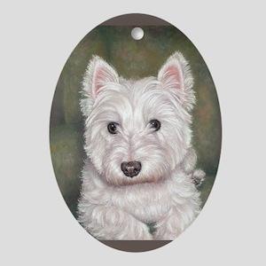 Westie Oval Ornament
