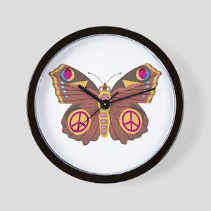 Peace Moth Wall Clock