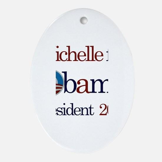 Michelle for Obama 2012 Oval Ornament