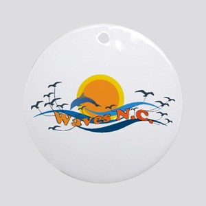 Waves NC Ornament (Round)