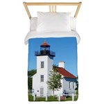 Sand Point Lighthouse Twin Duvet Cover