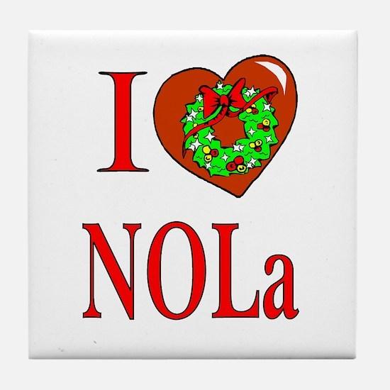 Love New Orleans Christmas Tile Coaster