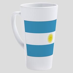 Argentina flag 17 oz Latte Mug