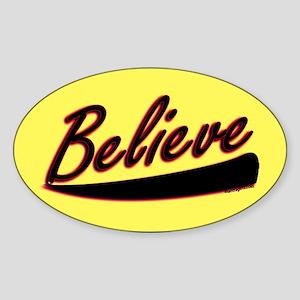 Believe Oval Sticker