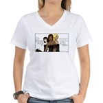 Skin Colour - Women's V-Neck T-Shirt