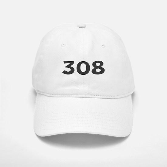 308 Area Code Baseball Baseball Cap