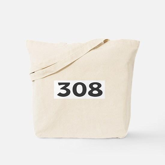 308 Area Code Tote Bag