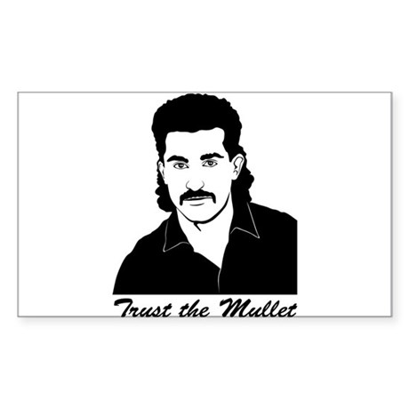Trust My Mullet Rectangle Sticker