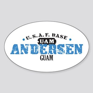 Andersen Air Force Base Sticker (Oval)