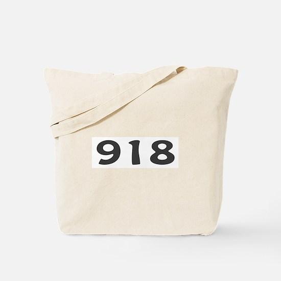918 Area Code Tote Bag