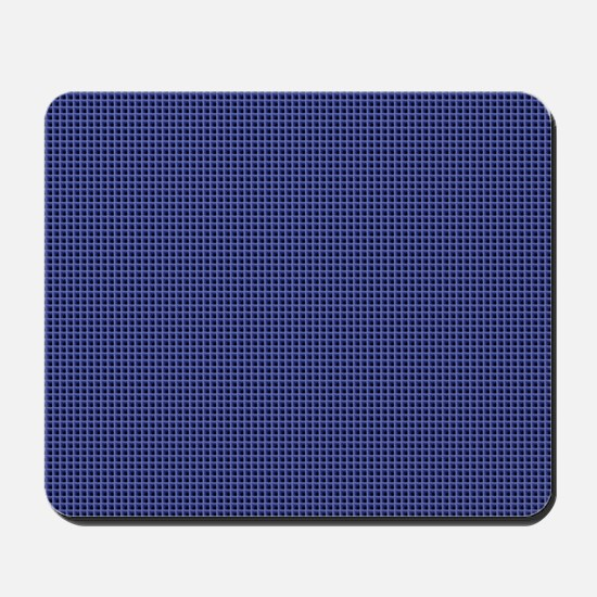 Ice Blue Squares Mousepad