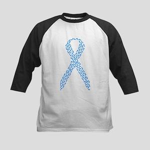 Blue Awareness Ribbon Kids Baseball Jersey