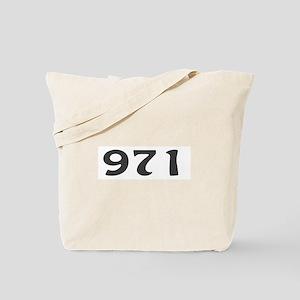971 Area Code Tote Bag